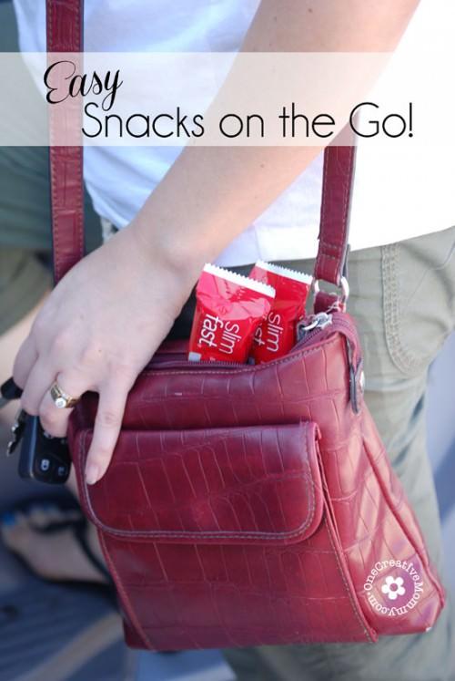 Easy Snacks on the Go {OneCreativeMommy.com}