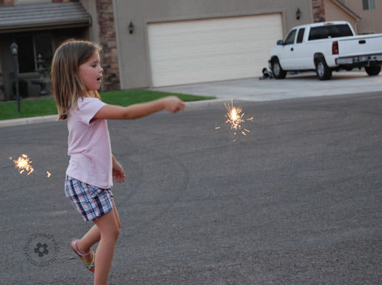 Fun with sparklers! Please don't pin this image.
