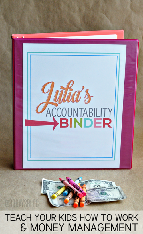 How to Motivate Kids: Accountability Binder from 30 Handmade Days