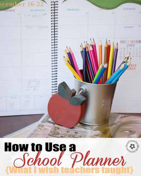 How to Use a Daily School Planner {Tips I Wish Were Taught at School} #backtoschool