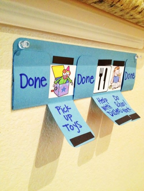 How to Motivate Kids: Toddler Chore Chart from My Name is Snickerdoodle
