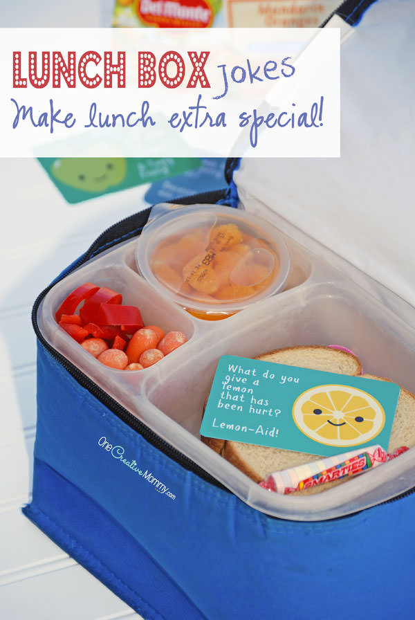 Back to School Lunchbox Jokes! Send a smile & an excuse to make a new friend! {OneCreativeMommy.com}