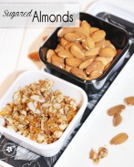 How to Make Sugared Almonds--Perfect for adding to salads, or just to eat as a sweet treat! {OneCreativeMommy.com}