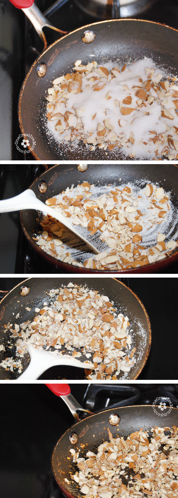 How to make sugared almonds. {OneCreativeMommy.com}
