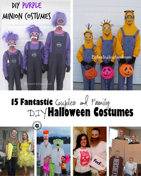 & 15 DIY Couples and Family Halloween Costumes - onecreativemommy.com