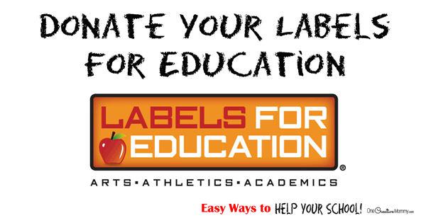 Easy Ways to Help Your School! {OneCreativeMommy.com}  #Labels4Edu  #shop