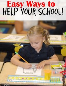 Easy Ways to Help Your School! {OneCreativeMommy.com} #Labels4Edu #shop