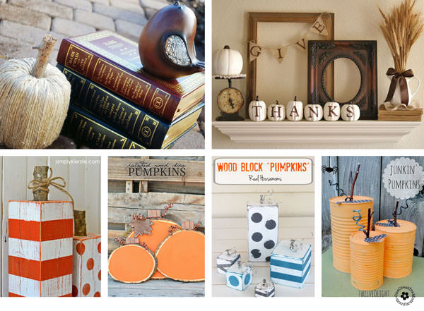 25 Pumpkin Fall Decorating Ideas {OneCreativeMommy.com} #Falldecor