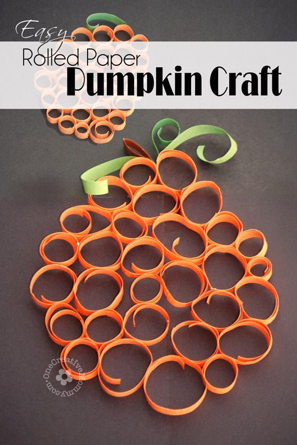 rolled-paper-pumpkins