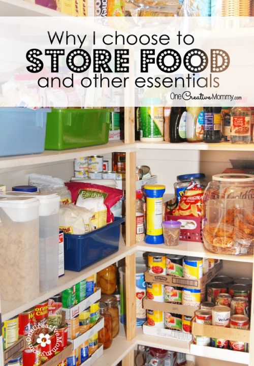 Food Storage -- Do You Need It? Why I store food and other essentials {OneCreativeMommy.com}
