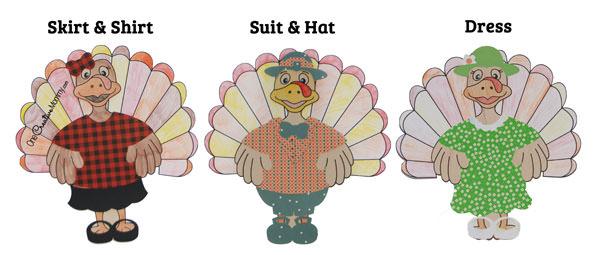 Dressed Turkey Thanksgiving Kids