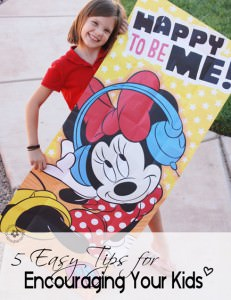 5 Easy Tips for Encouraging Your Kids {OneCreativeMommy.com} When's the last time you told your kids that you think they're great? #shop