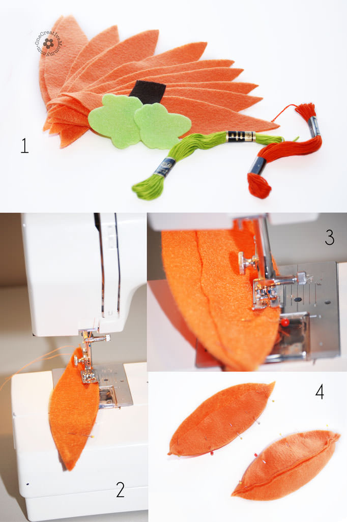 Felt Food Fall Pumpkin Tutorial and template