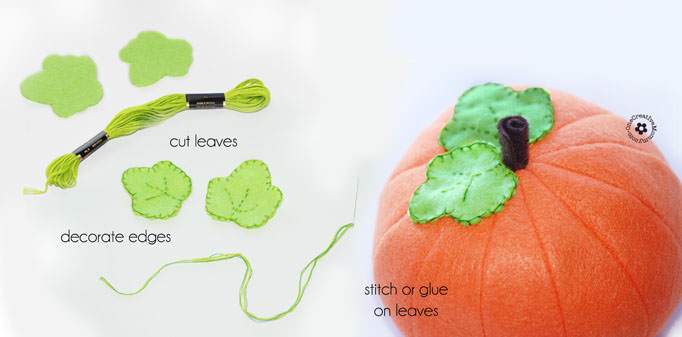 Felt Food Fall Pumpkin Tutorial from OneCreativeMommy.com