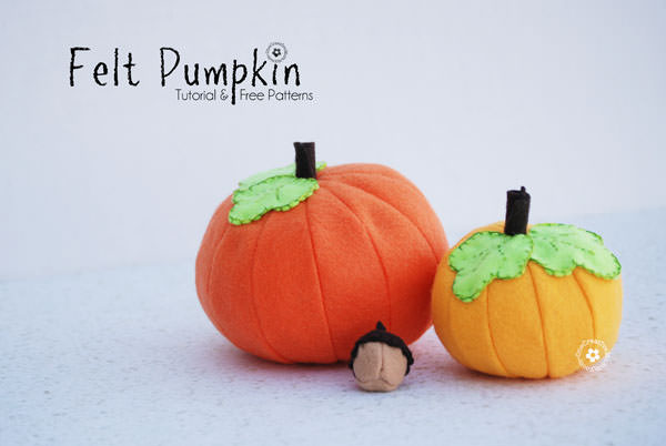 Download a Free Pattern for Felt Food Pumpkins from OneCreativeMommy.com