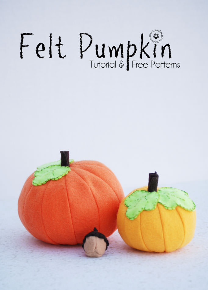 Felt Pumpkin craft Tutorial on Life Sew Savory