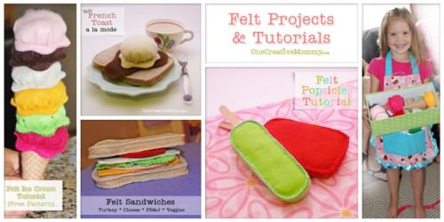 Felt Food Tutorials from OneCreativeMommy.com