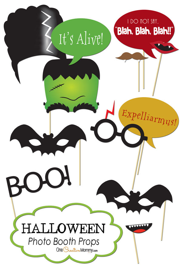 picture about Photo Props Printable identified as Halloween Photograph Booth Props Printables