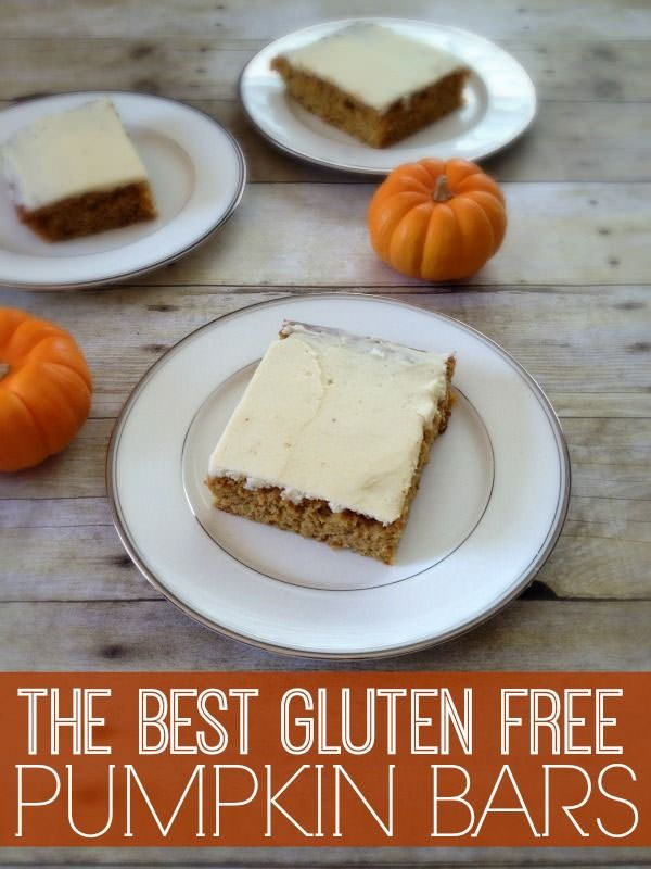The Best Gluten Free Pumpkin Bars from Inspiration for Moms {25 Thanksgiving Dessert Recipes from OneCreativeMommy.com}