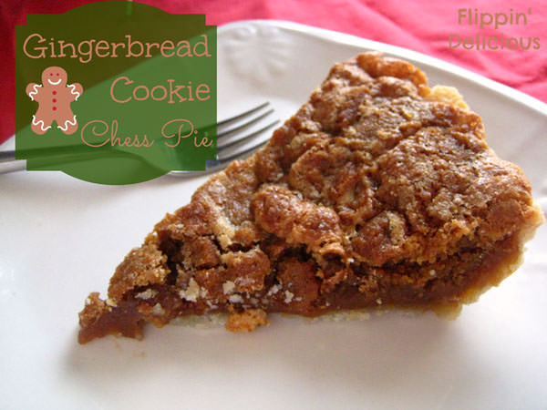 Gluten Free Gingerbread Chess Pie from Flippin' Delicious {25 Thanksgiving Dessert Recipes from OneCreativeMommy.com}