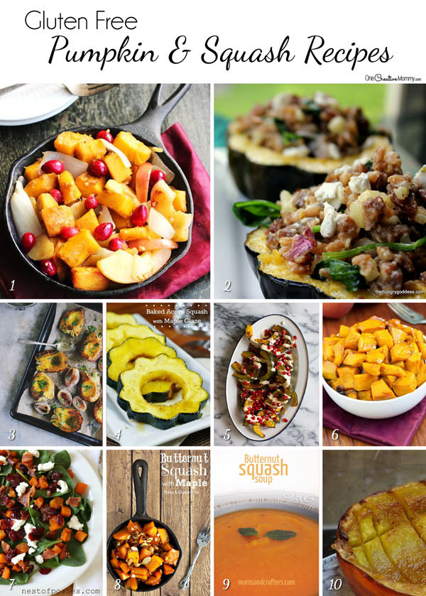Amazing Pumpkin and Squash Recipes for your Gluten Free Thanksgiving {OneCreativeMommy.com}