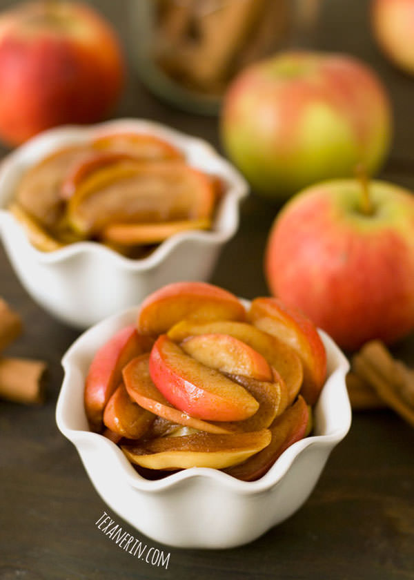 Healthier Sauteed Apples from Texinerin Baking {25 Thanksgiving Dessert Recipes from OneCreativeMommy.com}