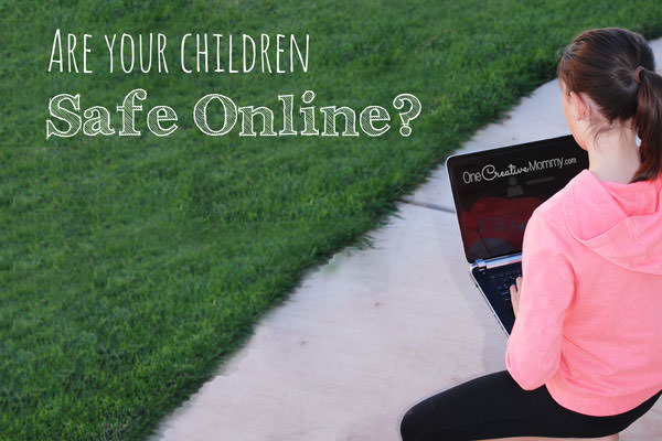 Are your kids safe online? Check out these Simple Internet Safety Tips, and share them with your kids today! {OneCreativeMommy.com} Parenting Tips