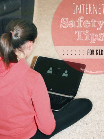 Are your kids safe online? Check out these Simple Internet Safety Tips, and share them with your kids today! {OneCreativeMommy.com} #ShareAwesome {Parenting Tips}