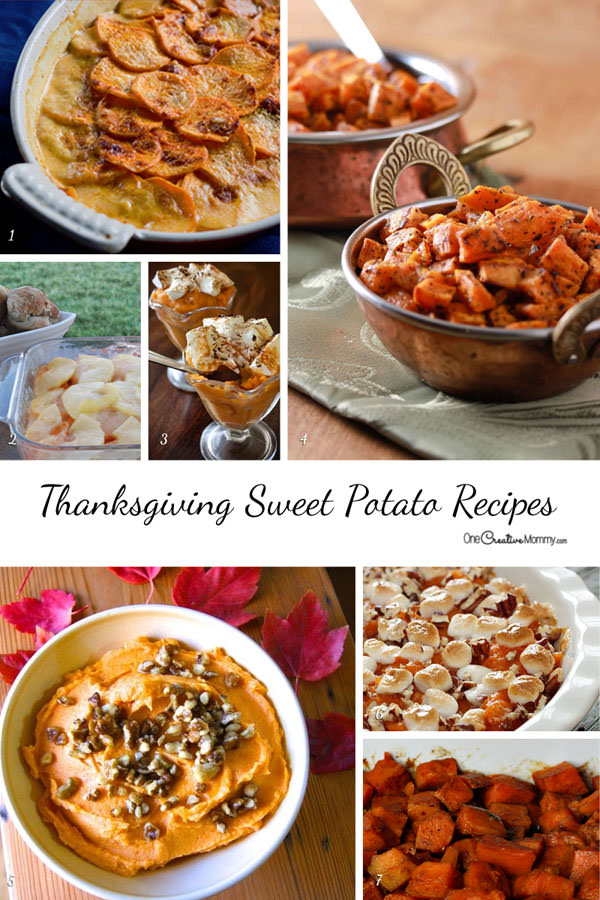 Fantastic Sweet Potato Casserole and Side Dish Recipes for your Gluten Free Thanksgiving or Christmas Dinner {OneCreativeMommy.com}