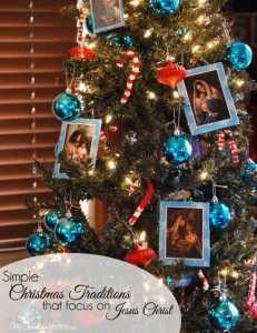 With Christmas becoming increasingly commercialized, here are some simple Christmas traditions that focus on Jesus Christ {OneCreativeMommy.com} Keep Christ in Christmas, Fun Family Traditions