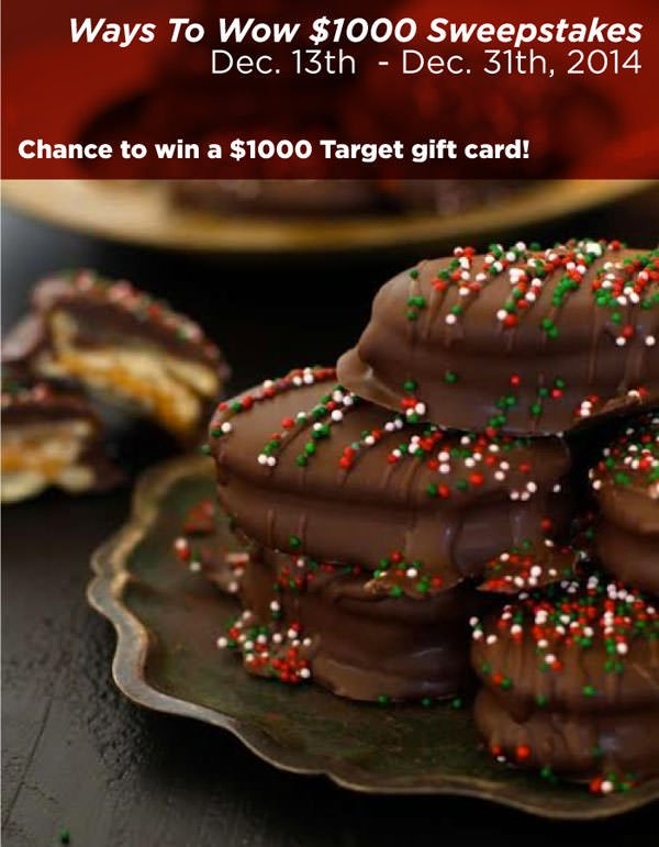 Find easy homemade holdiay appetizer recipes & enter for a chance to win Ways To Wow $1000 Sweepstakes! Find rules and enter here: http://cbi.as/tek1d. Prize: $1000 Target gift card Ends: 12/31/14. AD