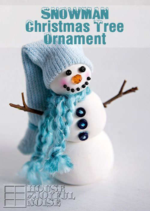 Snowman Crafts and Gift Ideas from OneCreativeMommy.com {Clay Snowman Christmas Ornament from House of Joyful Noise}