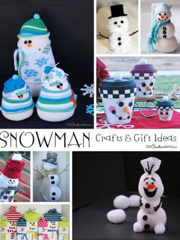 Looking for snowman crafts, decor and gift ideas? I've rounded up some of the best! {OneCreativeMommy.com}
