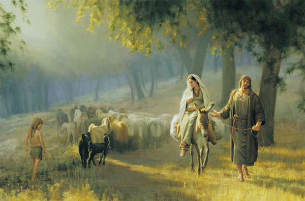 The Road to Bethlehem by Joseph Brickey {found on lds.org)