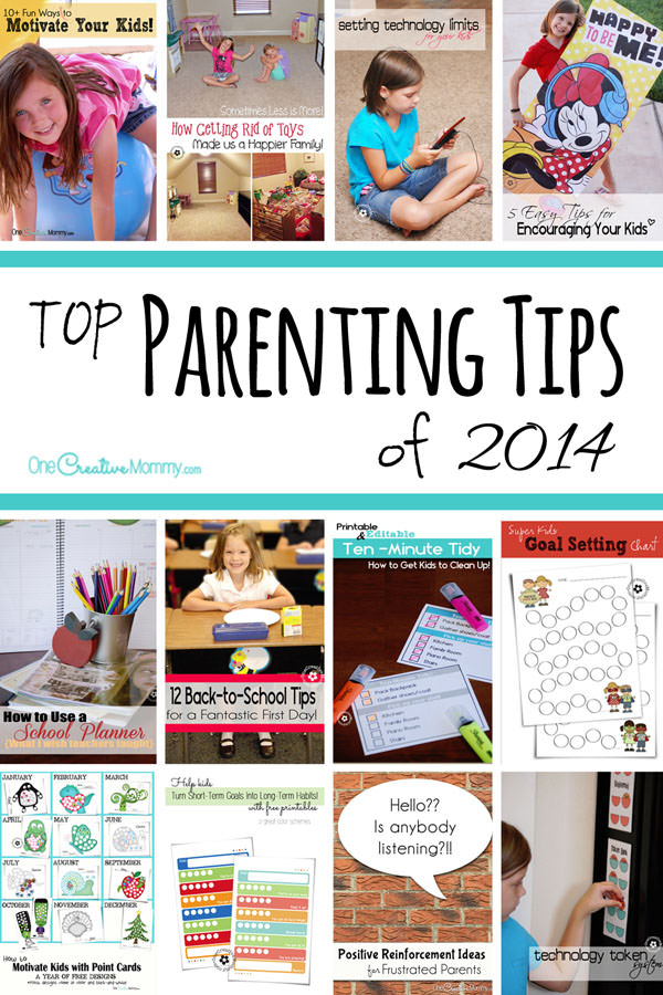 Top Parenting Tips of 2014: What will you change for next year to make your home a happier place? Check out great ideas for motivating kids and becoming a happier family. {OneCreativeMommy.com}