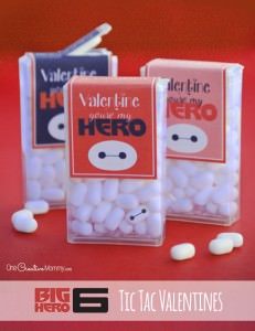 Big Hero 6 Valentines {Printable Tic Tac Wrappers}