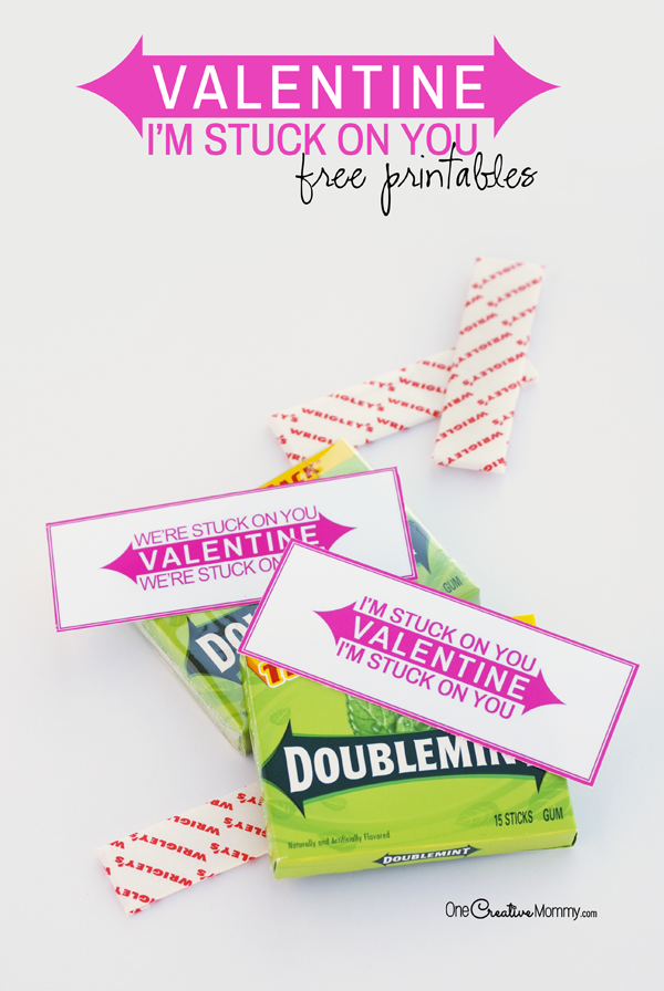 image relating to Extra Gum Valentine Printable named Im Trapped upon Your self Absolutely free Printable Valentines
