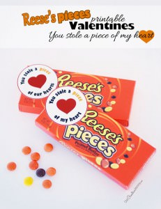 Reeses Pieces Printable Valentines