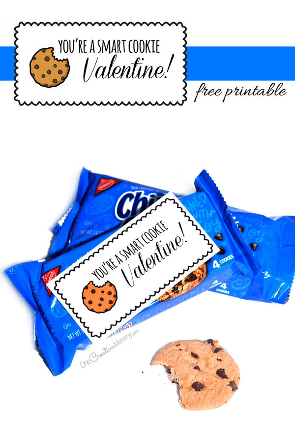 photograph about You're One Smart Cookie Printable identified as Good Cookie Valentine Printables