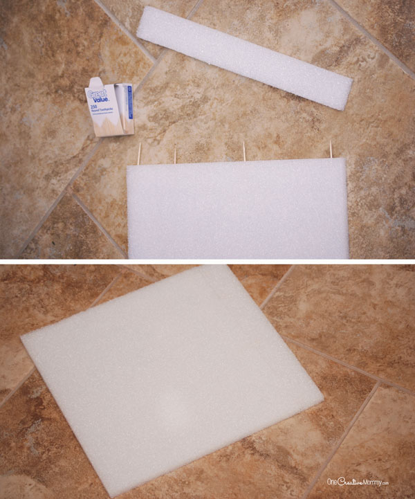 DIY Wall art with Make It: Fun® Foam and Paintable Wallpaper {OneCreativeMommy.com}