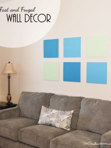 You won't believe what I used to create this Wall Decor! {Frugal DIY Wall Art tutorial from OneCreativeMommy.com} #MakeItFunCrafts