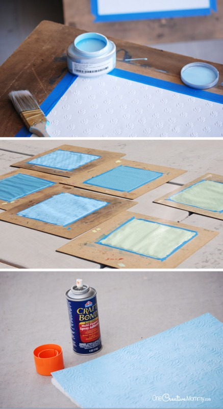 Diy wall art with make it fun foam and paintable wallpaper - Diy wall decorations ...
