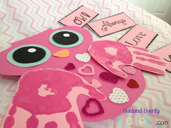 {Owl Always Love You Valentine} One of 25+ Cute Valentine Crafts for Kids rounded up on OneCreativeMommy.com {Come see them all and visit and pin your favorites}