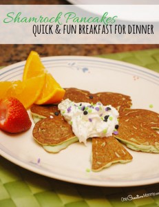 Shamrock Pancakes {Breakfast for Dinner}