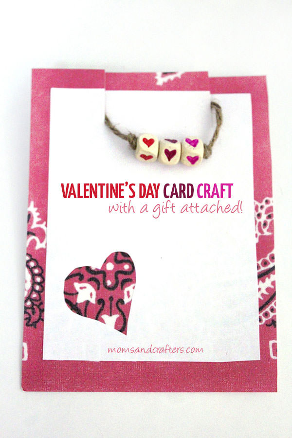 {Valentine's Day Card and Bracelet Gift Idea} One of 25+ Cute Valentine Crafts for Kids rounded up on OneCreativeMommy.com {Come see them all and visit and pin your favorites}