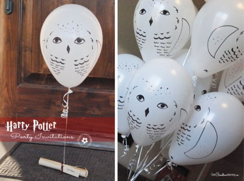 Harry Potter Party Invitations Delivered by Owl Post {OneCreativeMommy.com} Perfect for a Harry Potter or Halloween Party