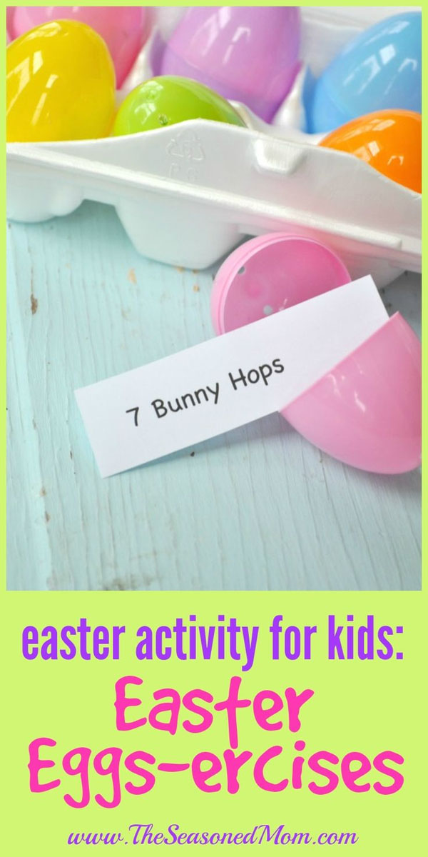 Cute Easter Kids Craft Roundup on OneCreativeMommy.com {Easter Eggs-ercises Kids Game and More}