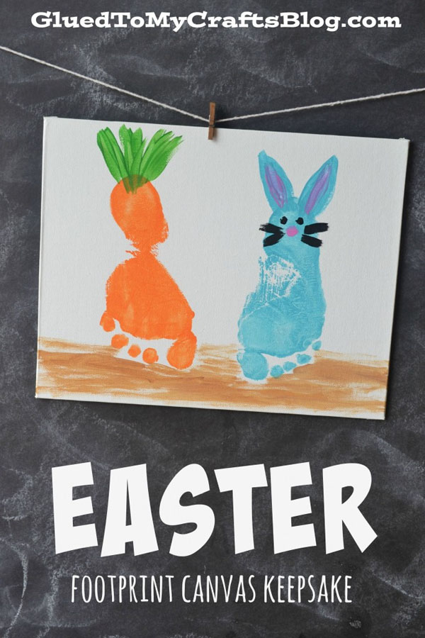 Cute Easter Kids Craft Roundup on OneCreativeMommy.com {Easter Footprint Craft and more}