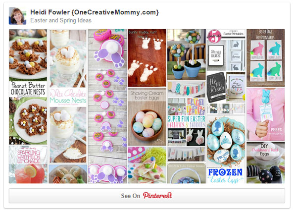 Easter and Spring Pinterest Board from OneCreativeMommy.com