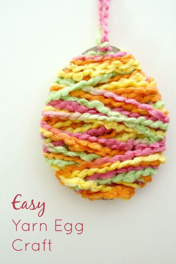 Cute Easter Kids Craft Roundup on OneCreativeMommy.com {Easy Yarn Egg Craft and more}